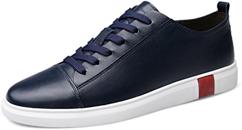 QIDI Freizeitschuhe Männlich Trend England Gummi Rutschfest Einzelne Schuhe (Farbe : Blau  Größe : EU41/UK7.5 8)