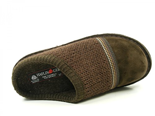 Haflinger 313054 Flair Seventies Pantofole donna uomo Braun