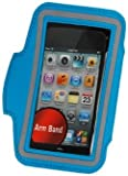 iPod Touch 5th 6th Generation Case, iPod Touch 5/6 Case Genuine ZAFOORAH Armband Case with 3 Bonus items Stylus, Screen Protector, Microfiber Cloth (Light Blue)