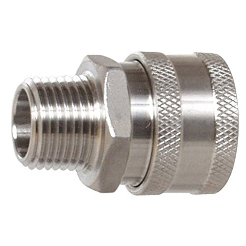 Quick Fit 1/2 Stainless Steel Female Quick Disconnect with Male Pipe Thread by QuickFit -