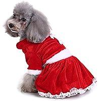 Delicacydex Serie de Navidad Ropa para Perros Mascotas Traje de Navidad Ropa  Linda de Dibujos Animados d783d35da89c