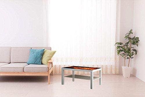 Vinilo Mesa Ikea Lack Personalizada Fuego | Medidas