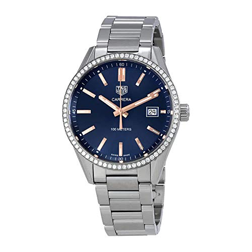 Tag Heuer Carrera Blau Zifferblatt Damen-Armbanduhr war1114. ba0601