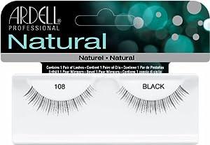 Ardell Fashion Lashes False Eyelashes - #108 Black (Pack of 4)