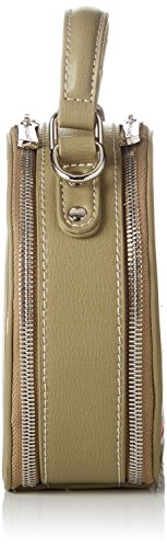 David Jones - Cm3765, Borse a tracolla Donna Verde (Khaki)