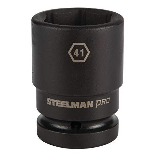 STEELMAN PRO 79357 1-Inch Drive x 41mm 6-Point Thin Wall Deep Impact Socket -