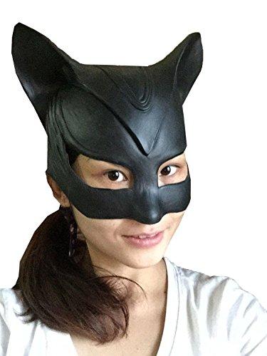 DylunSky Maschera di Horror di Halloween Cat Ear Latex Mask