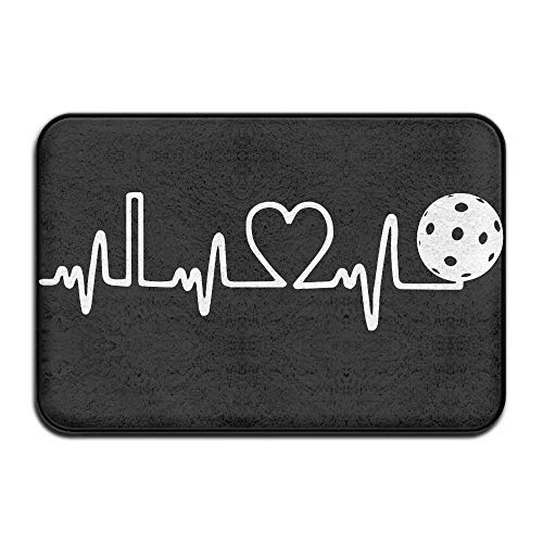 ewtretr Pickleball Heartbeat-3 Outside/Inside Floor Mat for Health and Wellness Offices Bathroom Doormat 23.6