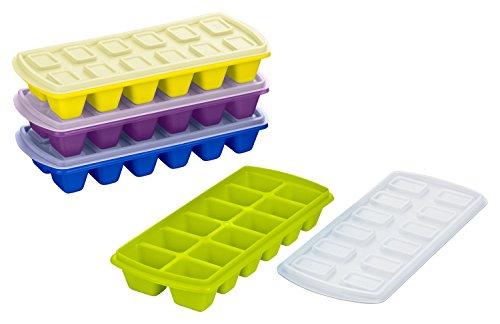 Haushaltsdose Eiswürfelbereiter mit Deckel 4er Pack