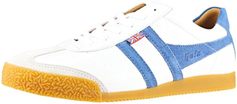 Gola CMA610WE - Zapatillas de Piel para Hombre Blanco Weiß