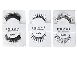Majik Eyelashes For Bride| Natural Party Wear Eyelashes For Women And Girls | Eyelashes For Small Eyes | Reusable Human Hair Eyelashes (Normal + Medium + Heavy)