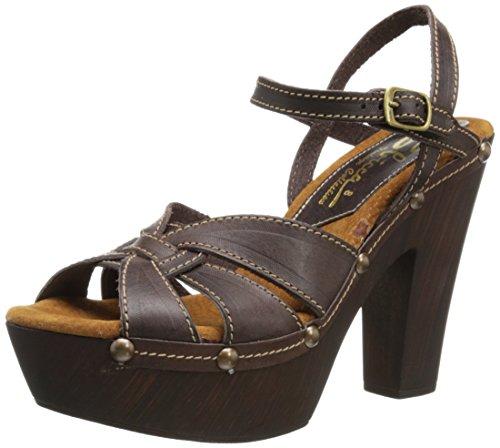 Sbicca Olympia Femmes Cuir Sandales Compensés brown