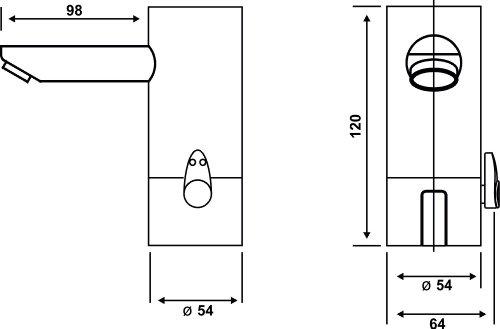 Cornat –  Infrarot Waschtischarmatur, Sensorarmatur, Temperaturregler, Batteriebetrieb, Made in Germany, Chrom - 5