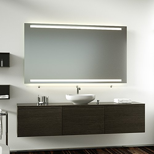 Badspiegel Lichtspiegel mit Schalter 140 cm Breit x 70 cm Hoch T5 Beleuchtung oben und unten