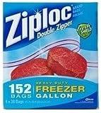 Ziploc Double Zipper Bags 152 Bags 26.8cmx24.3cm 4x38 Bags Heavy Duty Freezer 2kg