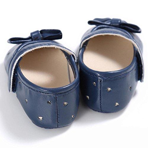 Saingace Kleinkind Mädchen Krippe Schuhe Neugeborene Blume Soft Sohle Anti-Rutsch Baby Sneakers Blau