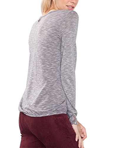 Esprit, T-Shirt Femme Gris (LIGHT GREY 040)
