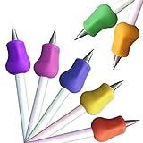 EHS61ASFWE BLANC ERGO Schreibgeräte pour crayons, manche épais | Porte-stylo | Différentes couleurs Pour droitier et gaucher Fashion 7 PCS 7