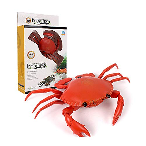 Y56(TM) Electronic RC Crab Wireless Infrared Remote Control Realistic Crab Prank Insect Scary Trick Animal Toy for Kids Adults Christmas Party Favors Gifts Xmas Present (Red)