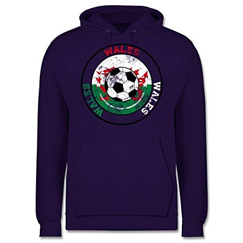 EM 2016 - Frankreich - Wales Kreis & Fußball Vintage - Männer Premium Kapuzenpullover / Hoodie Lila