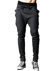 CHIC-CHIC Homme Pantalon de Sport/Jogging Sarouel Fitness Loose Crotch Pants Hip-hop Danse Casual