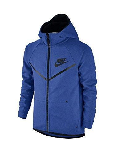 Nike B NSW TCH FLC WR Hoodie-Giacca da ragazzo Azul (Game Royal / Black / Black)