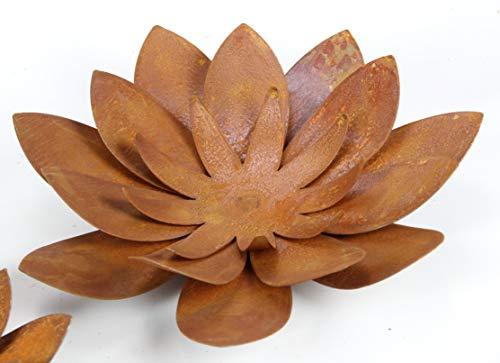 Edelrost Blüte (klein) 28 cm Durchmesser zum Legen Blume aus rost Metall für innen und außen