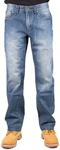 CAT Workwear Caterpillar Mens Trax Original Stonewash Jeans Trousers