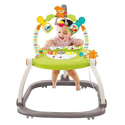 ERHANG Baby Schaukeln Lauflernhilfen Stuhl Prahler Walker Springen Stuhl Springen Fitness Spiel Activity Center Kinder Spielzeug,Green