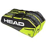 HEAD Core 6R Combi Tennistasche Schwarz Gelb