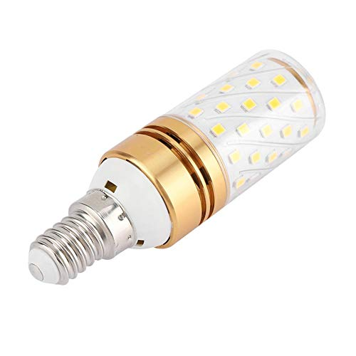 Gold Kandelaber (Riuty E14 LED-Maisglühlampen, 12W LED-Glühbirne warmweiße dekorative Lampe Nicht dimmbare kleine Edison-Schraube-Kerzenlampe, Kandelaber-Glühlampen AC 85-240V (4 Packs)(#01 E14 Gold Alloy))