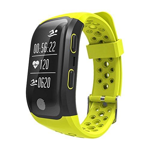 Rungao Pulsera Smart inteligente con sensor de ritmo cardíaco, GPS, monitor de sueño, podómetro...