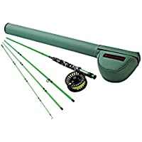 Redington Fly Fishing Fly Fishing Combo Kit 580-4 Minnow Outfit with Cross water 5 Wt. 8' Reel (Piece 4)