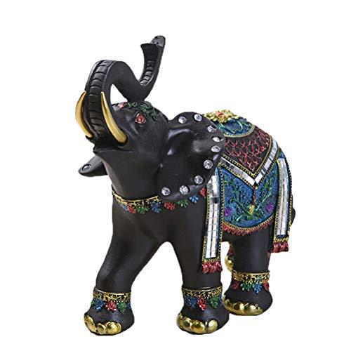 Vosarea Elefante Exquisito Adornos de Resina Decoraciones Regalos de Boda Suerte Accesorios...