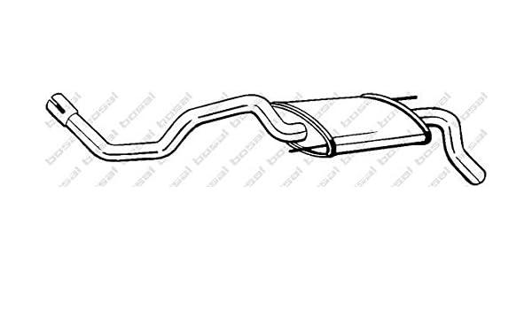 D/ämpfer Abgasanlage Endschalld/ämpfer u.a f/ür Seat |/Preishammer von kfzteile24