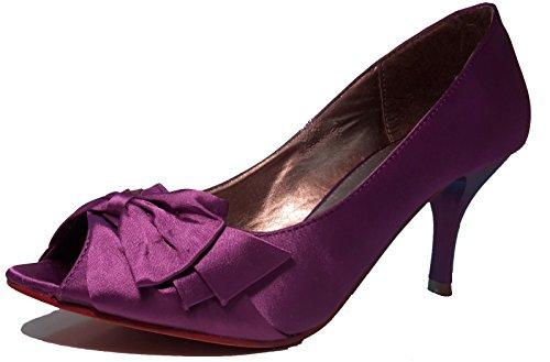 Talons hauts, Stiletto Pumps High Heels sandales, très sexy, bleu, violet, blanc, rose, violet, pourpre, beige, pink, chaussures femme, modèle 11064102002392, escarpins. Violet avec une boucle