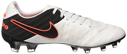 Nike Tiempo Legacy Ii Fg, Chaussures de Football Compétition Homme, UK Blanc - Weiß (Pure Platinum/Black-Hypr Orng 001)