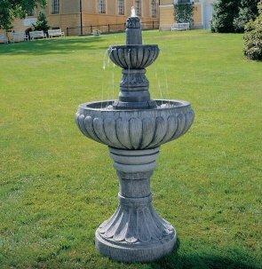 Brunnen aus Betonwerkstein inkl. Pumpe und Zubehör Säulenbrunnen Steinbrunnen Kaskadenbrunnen Terassenbrunnen
