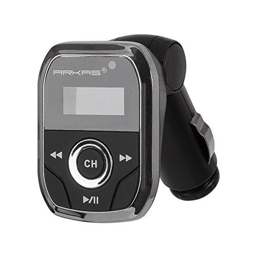 Arkas T96 FM Transmitter für Autoradio (MP3/MP4-Player, DVD-Rekorder, Fernbedienung, USB-Speicherstick)