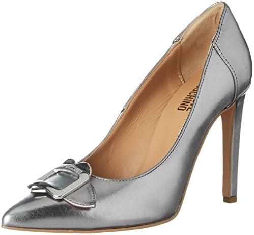 Love Moschino Scarpad.anne100 Laminato PU Acciaio, Zapatos de Tacón para Mujer