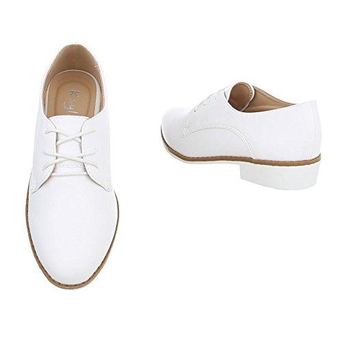 Ital-Design , Chaussures à lacets femme Weiß