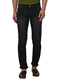 JUGEND Green Cotton Non-stretchabele Jeans for Men