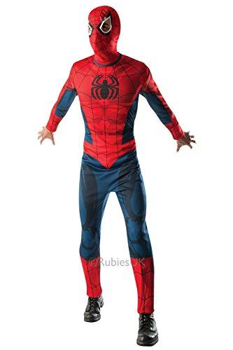 Rubies Erwachsene Marvel Spider-Man Herren Superheld Party Kostüm Kleid Outfit - Standard bis (Outfit Für Erwachsene Spiderman)