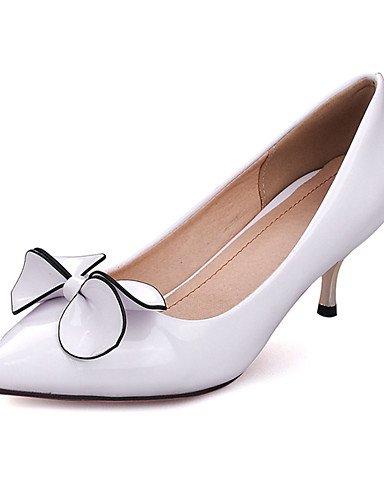 WSS 2016 Chaussures Femme-Habillé / Soirée & Evénement-Noir / Rouge / Blanc-Talon Aiguille-Talons / Bout Pointu-Talons-Similicuir white-us8 / eu39 / uk6 / cn39