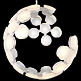 LED Lampe Modern Kronleuchter Weiss Planet Pendelleuchte Esstisch Lampe Wohnzimmer Restaurant Fashion Bar Industrielle Personalisierte Creative Globe Rund Pendellampe Hochwertiges Acry Aluminium Leuch