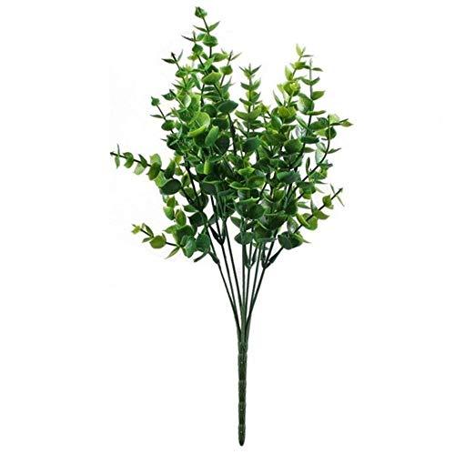 7°MR künstliche Pflanze 4 stücke Künstliche Sträucher Gefälschte Kunststoff Grünpflanzen Eukalyptus Blätter Sträucher Blumen Füllstoff Innen Außerhalb Hausgarten Büro