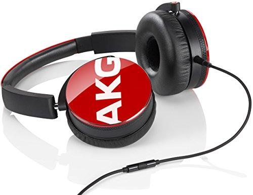 Y50 Portatili Pieghevoli con Cavo Rimovibile e Controllo Remoto Volume/Microfono, Compatibili con Dispositivi Apple iOS e Android, Rosso