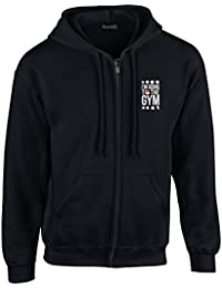Brand88 - I'm Going To The Gym Sudadera Con Capucha Y Cremallera