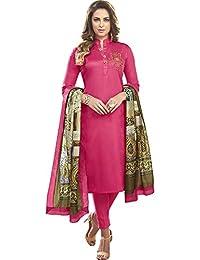 Vasu Saree Pink Heavy Jam Cotton With Designer Hand Work Long Stitched Suit