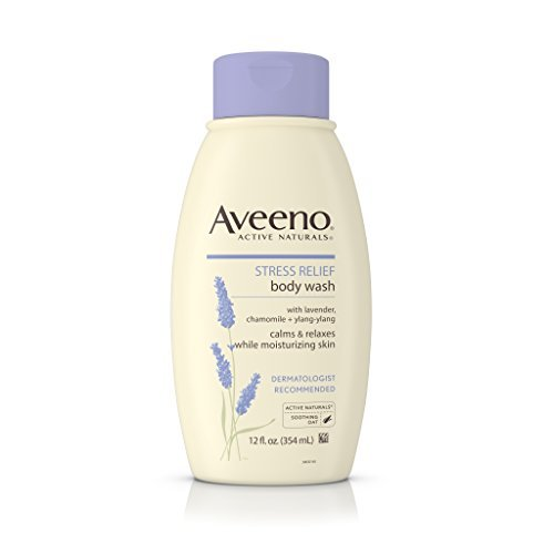 Aveeno Active Naturals Stress Relief Body Wash With Lavender, Chamomile & Ylang-Ylang, 12 Ounce (Pack Of 3) by Aveeno